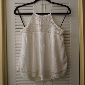 Halter Top with Lace Detai